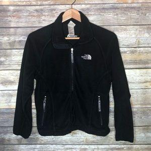 North face women's XS full zip fleece jacket black